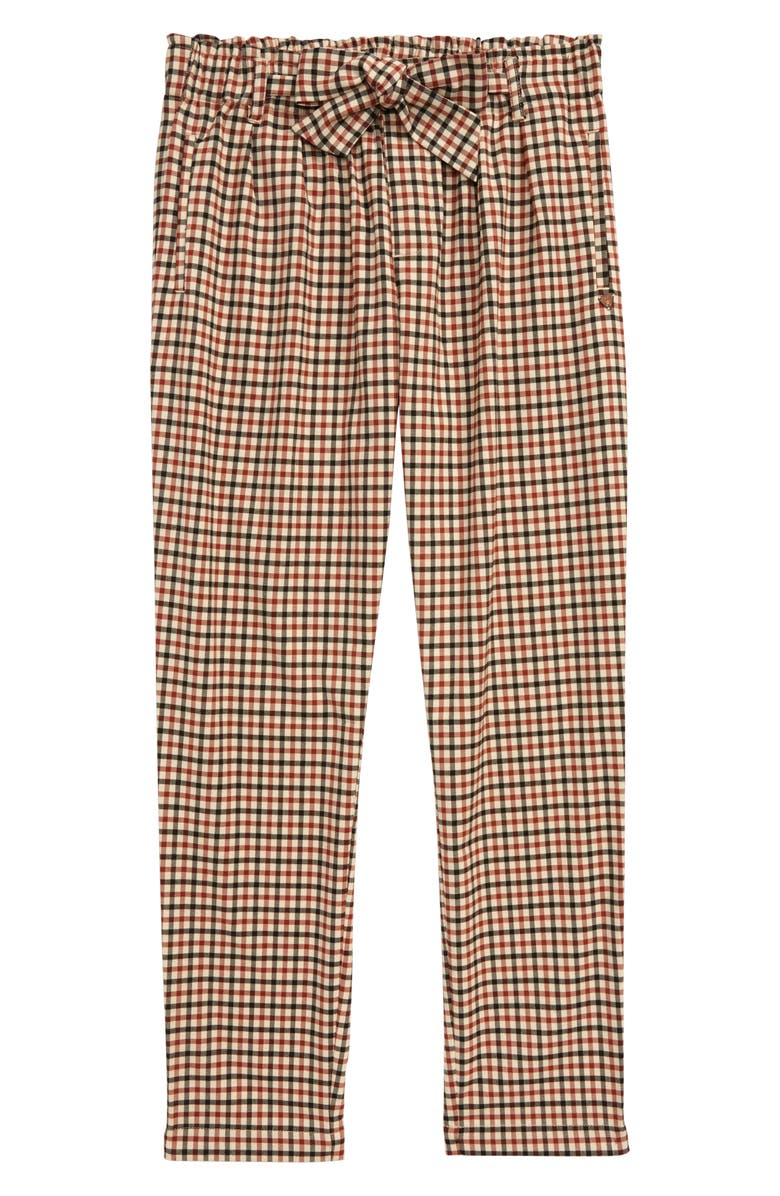 SCOTCH R'BELLE Plaid Relaxed Pants, Main, color, 218 B CHECK