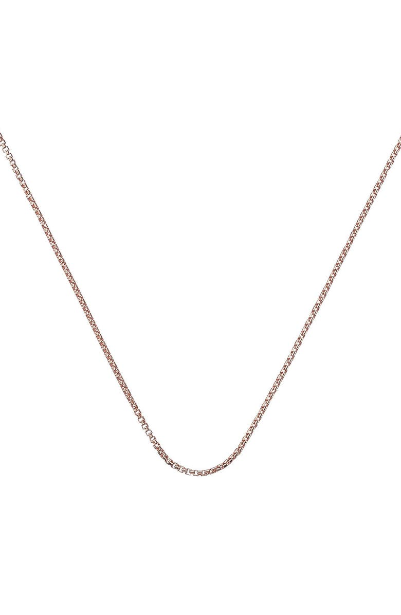 MONICA VINADER 18-Inch Box Chain, Main, color, ROSE GOLD