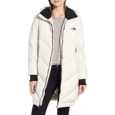 The North Face Albroz 550 Fill Power Down Hooded Jacket, White