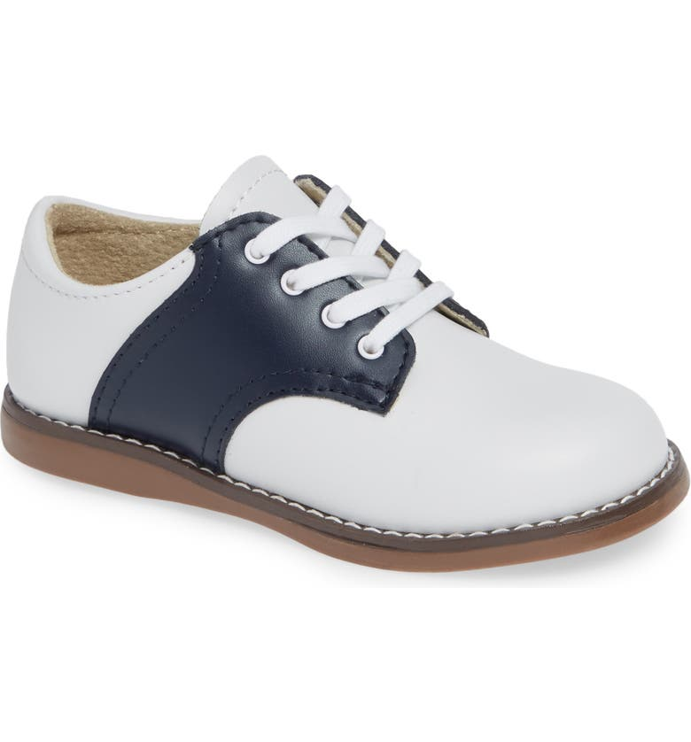 FOOTMATES Cheer Oxford, Main, color, WHITE/ NAVY