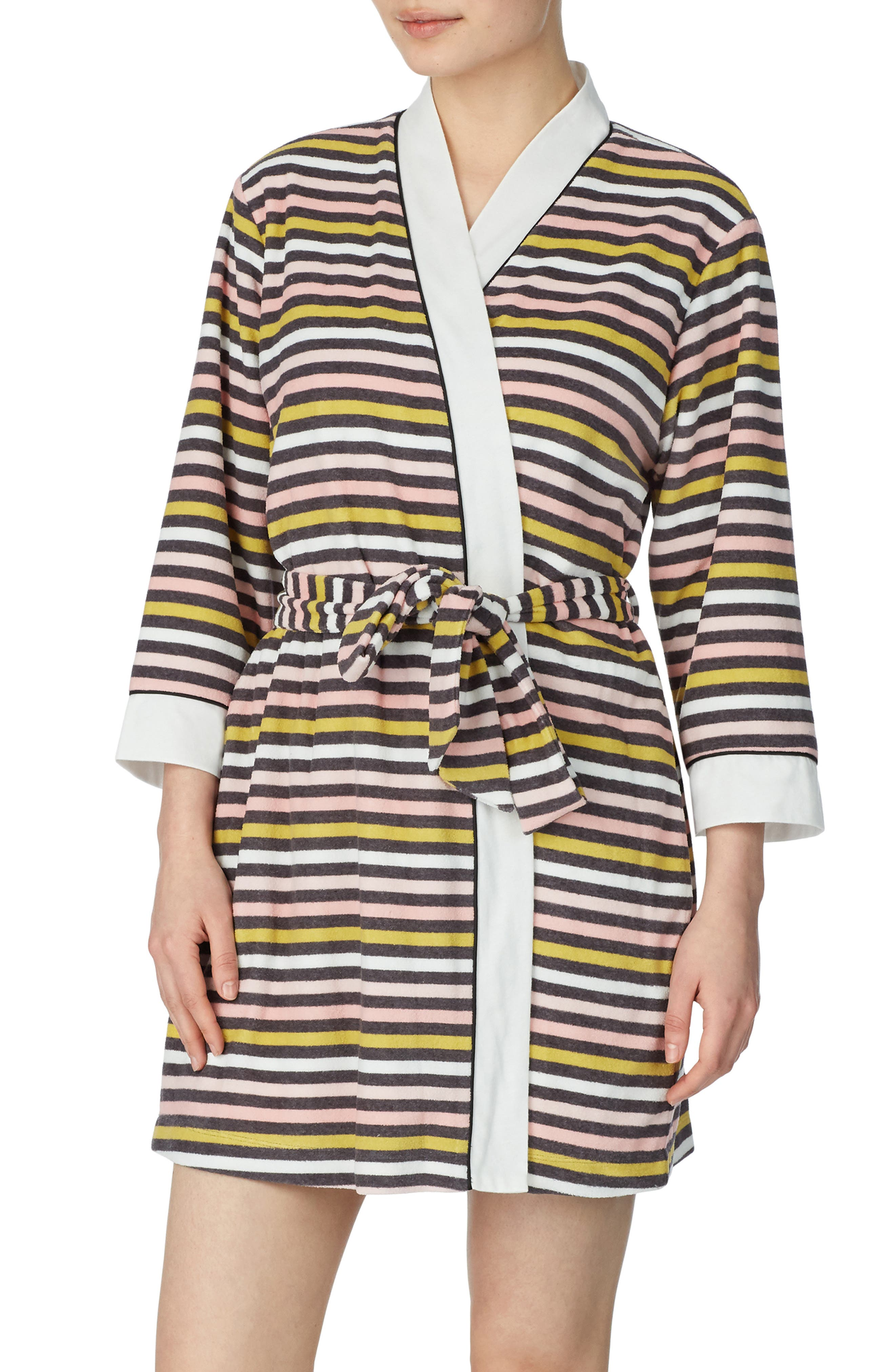 Kate Spade New York Print Short Terry Robe Nordstrom