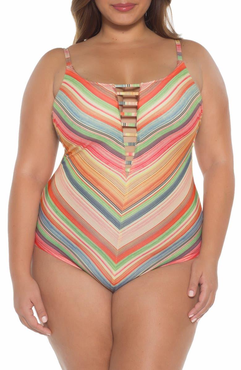 BECCA ETC. West Village One-Piece Swimsuit, Main, color, MULTI