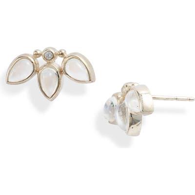 Anzie Micro Bouquet White Sapphire Stud Earrings