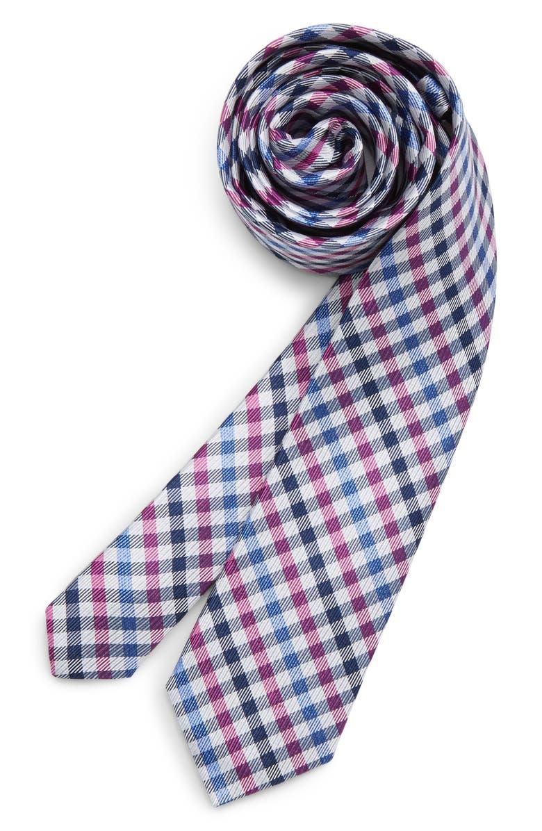 Michael Kors Check Silk Tie Big Boys