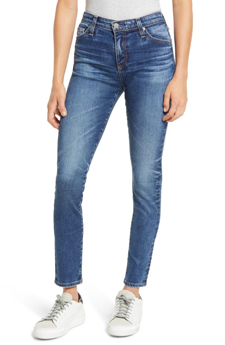 AG The Farrah Ankle Skinny Jeans, Main, color, 10 YEARS MILLENNIUM