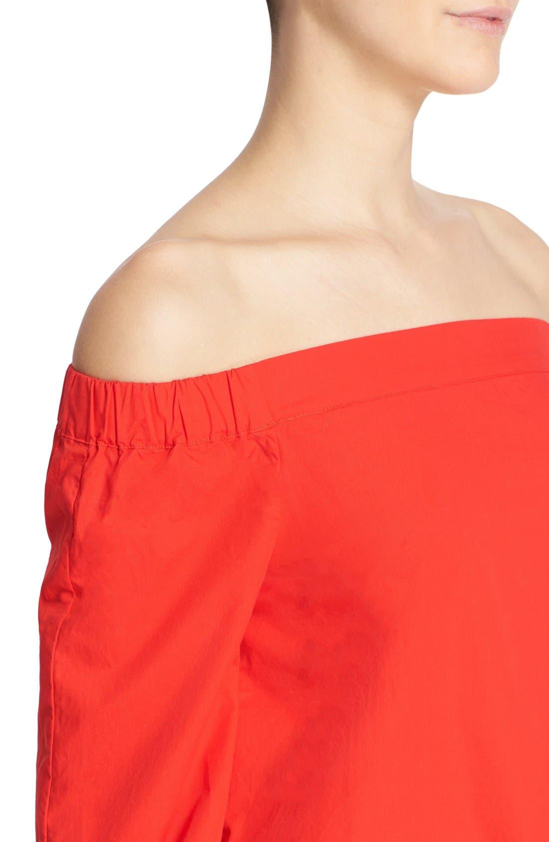 ,                             'Show Me Some Shoulder' Off the Shoulder Cotton Blouse,                             Alternate thumbnail 27, color,                             600