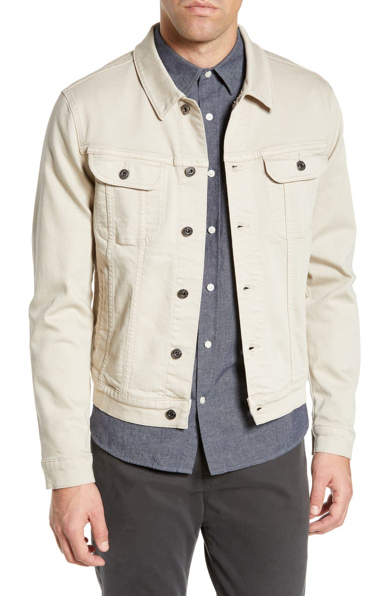 VINCE Slim Fit Denim Trucker Jacket, Main, color, 068