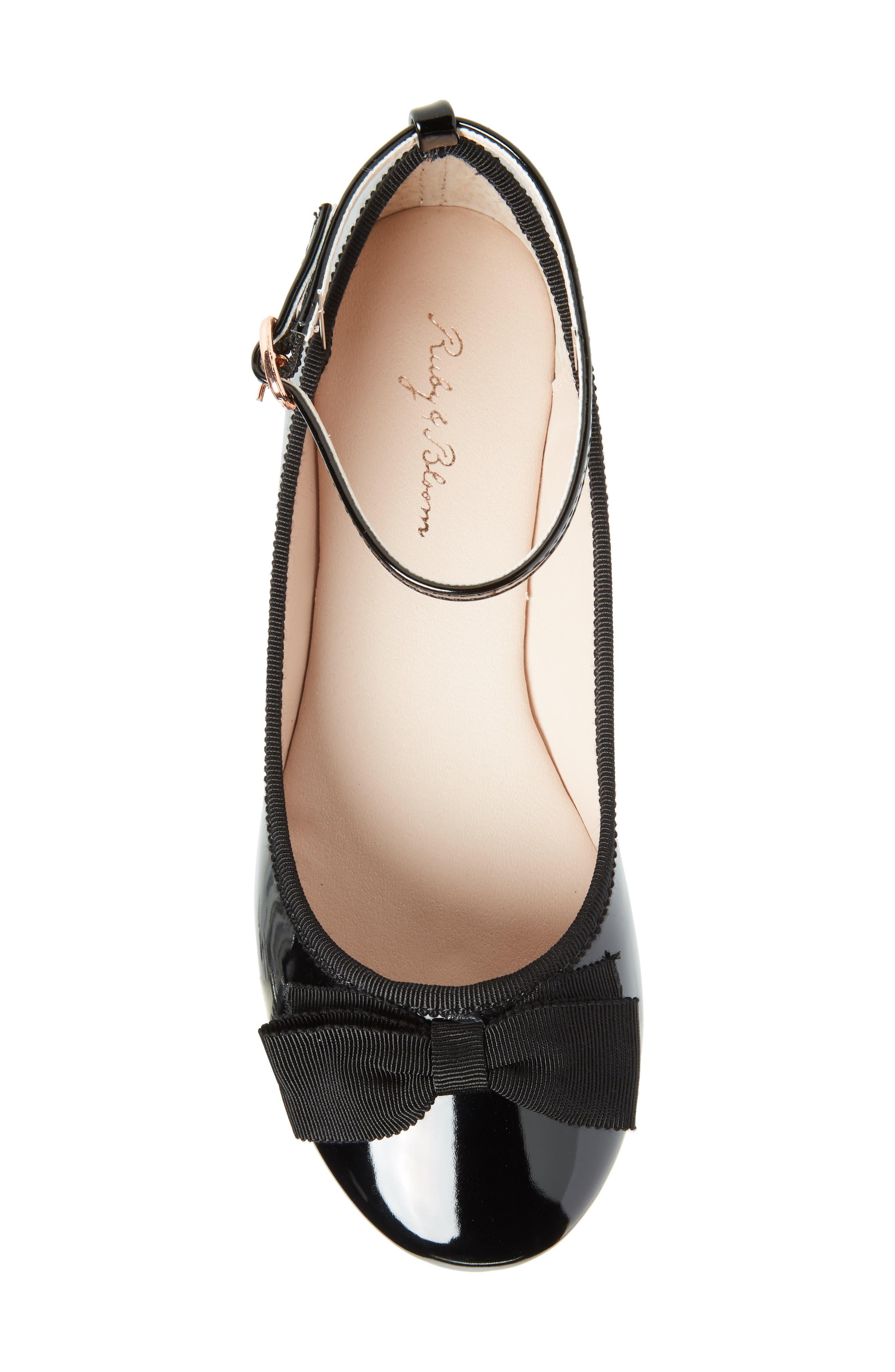 ,                             Pipa Ankle Strap Ballet Flat,                             Alternate thumbnail 5, color,                             BLACK FAUX PATENT