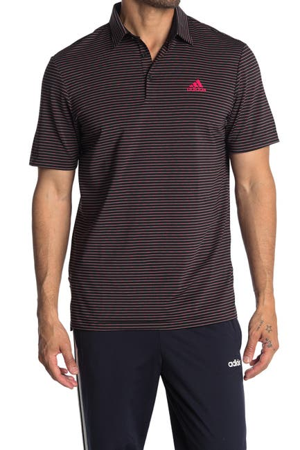 Image of Adidas Golf Ultimate365 Space Dye Striped Polo
