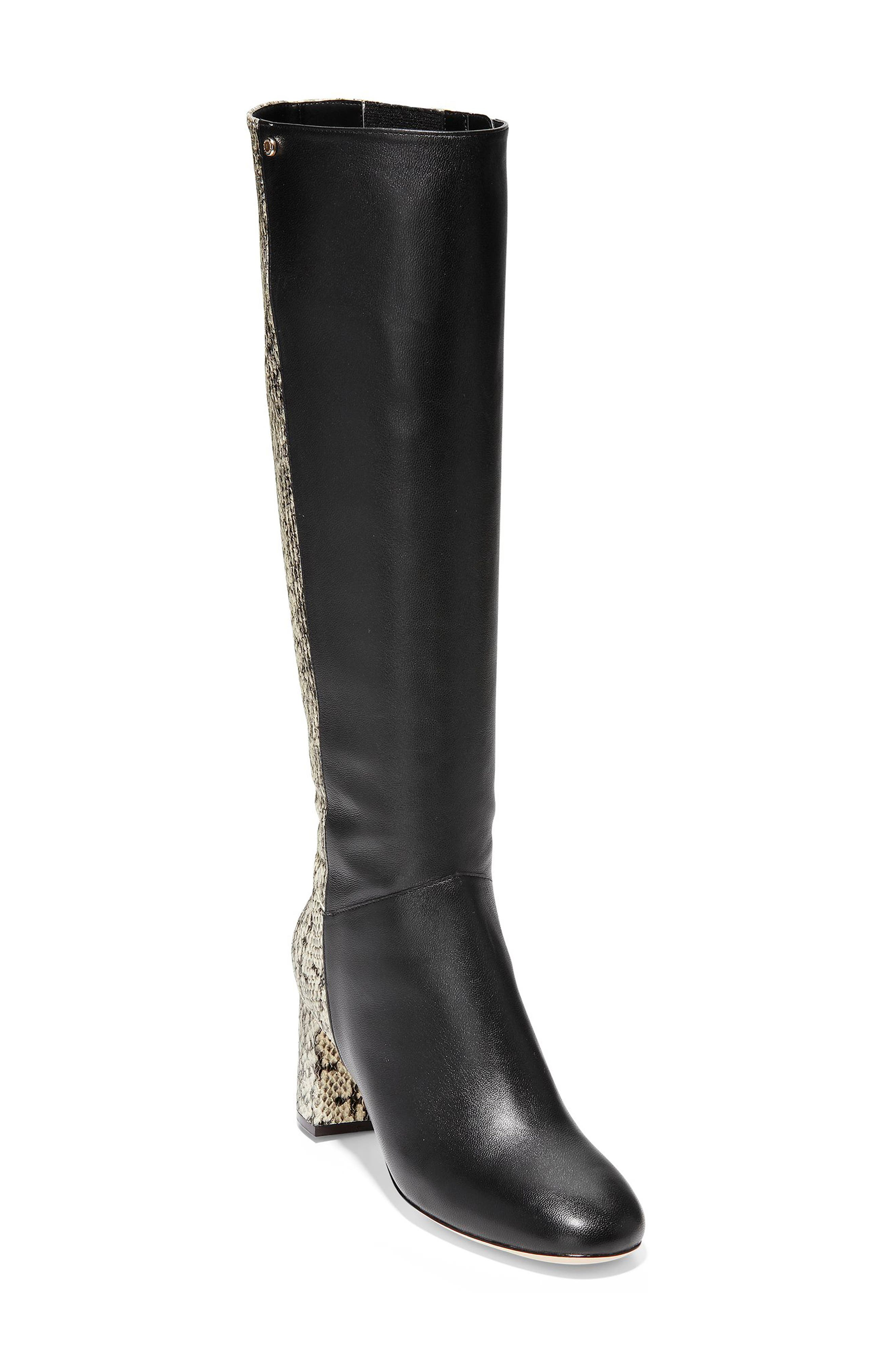 Image of Cole Haan Rianne Snake Print Tall Boot