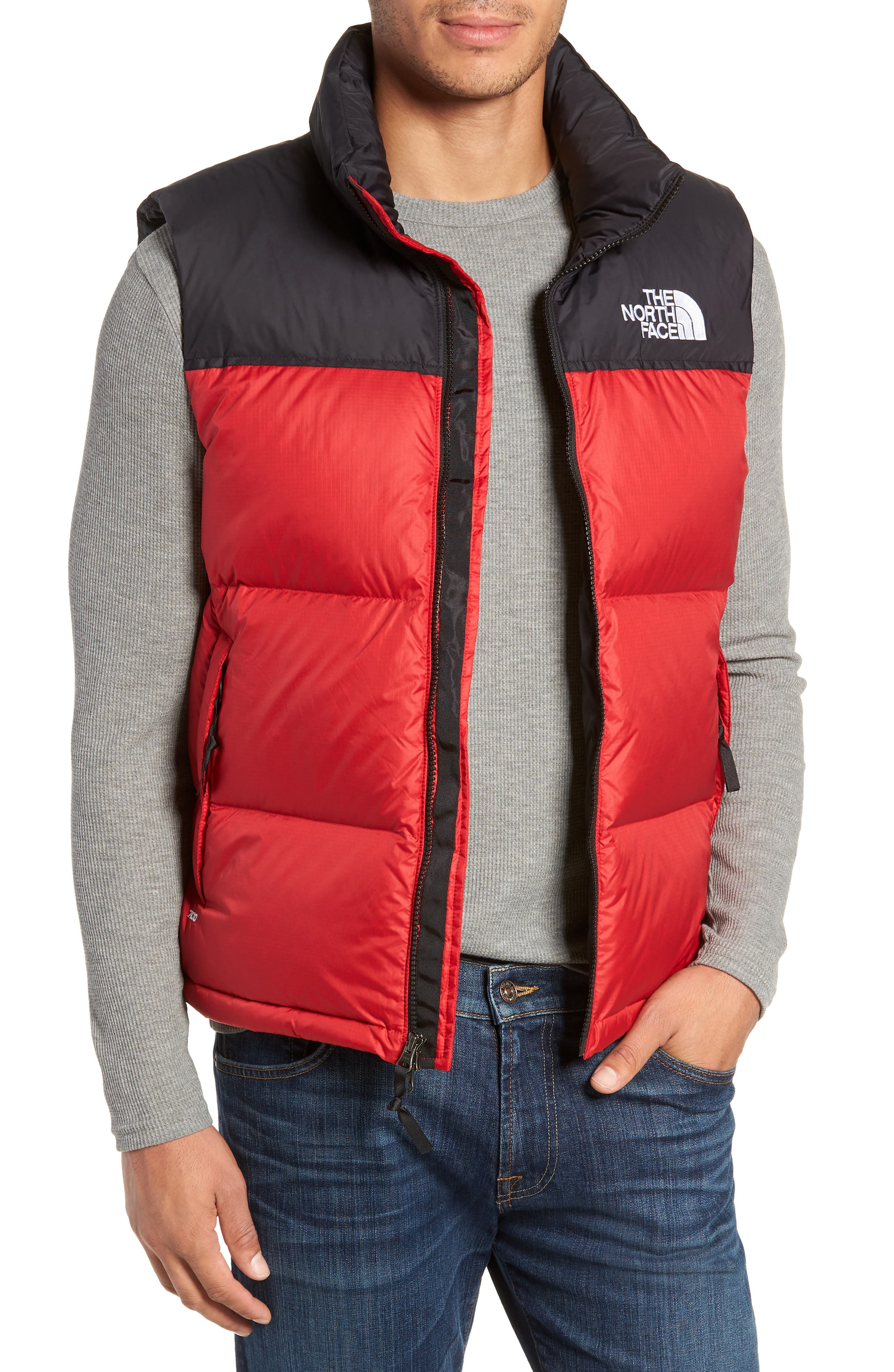 The North Face Nuptse 1996 Packable Quilted Down Vest, Red