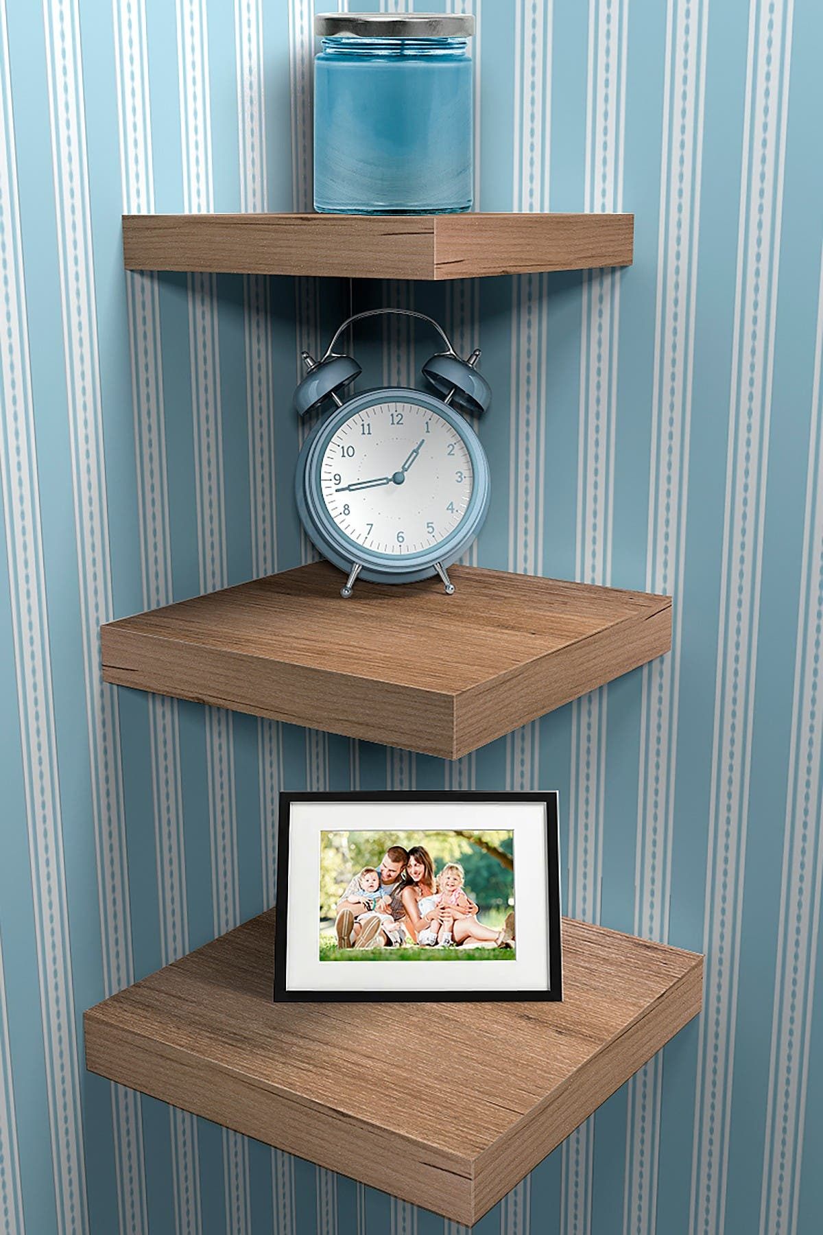 Image of Sorbus Grey Floating Shelf - Set of 3