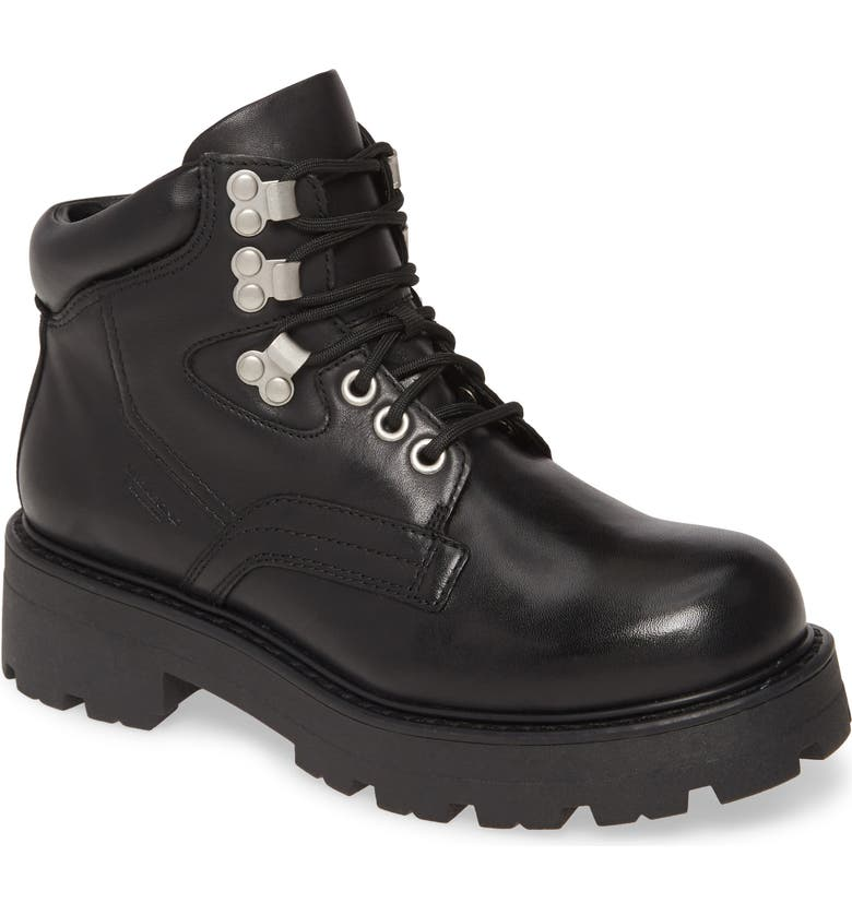 VAGABOND SHOEMAKERS Cosmo Hiking Boot, Main, color, BLACK LEATHER