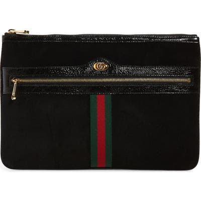 Gucci Ophidia Suede Pouch - Black