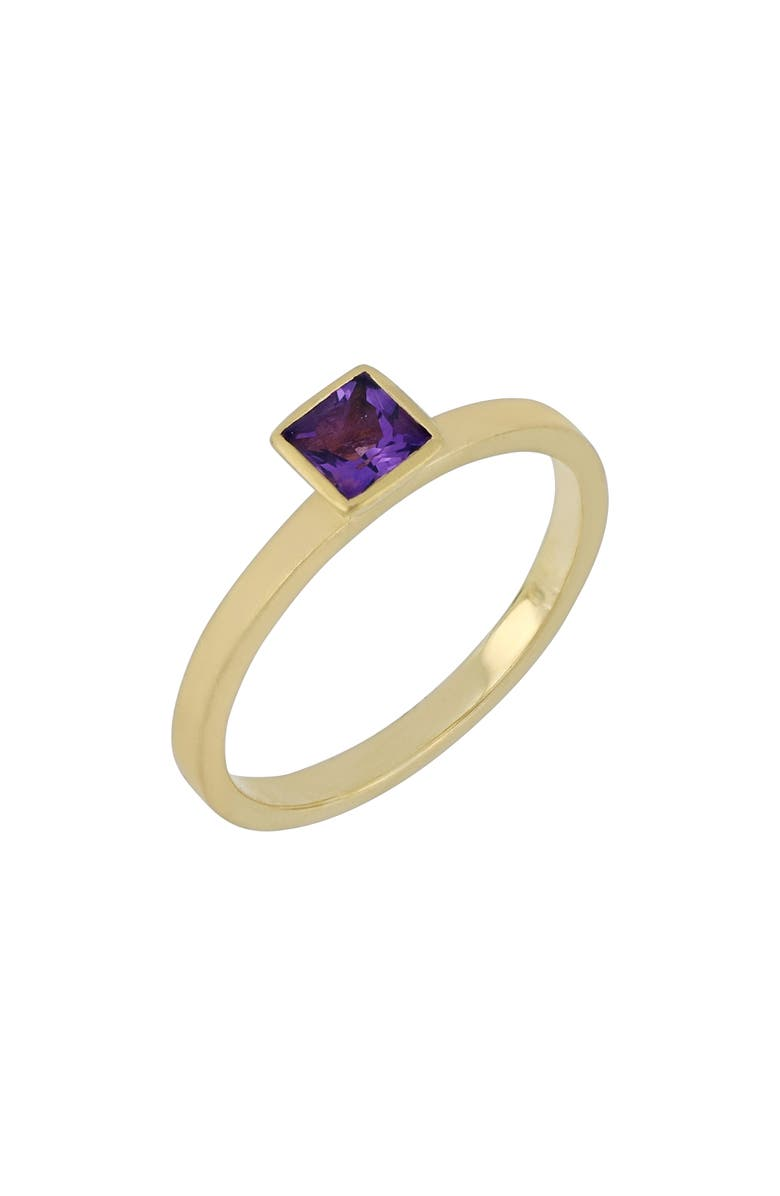 BONY LEVY Amethyst Ring, Main, color, GOLD/ AMETHYST