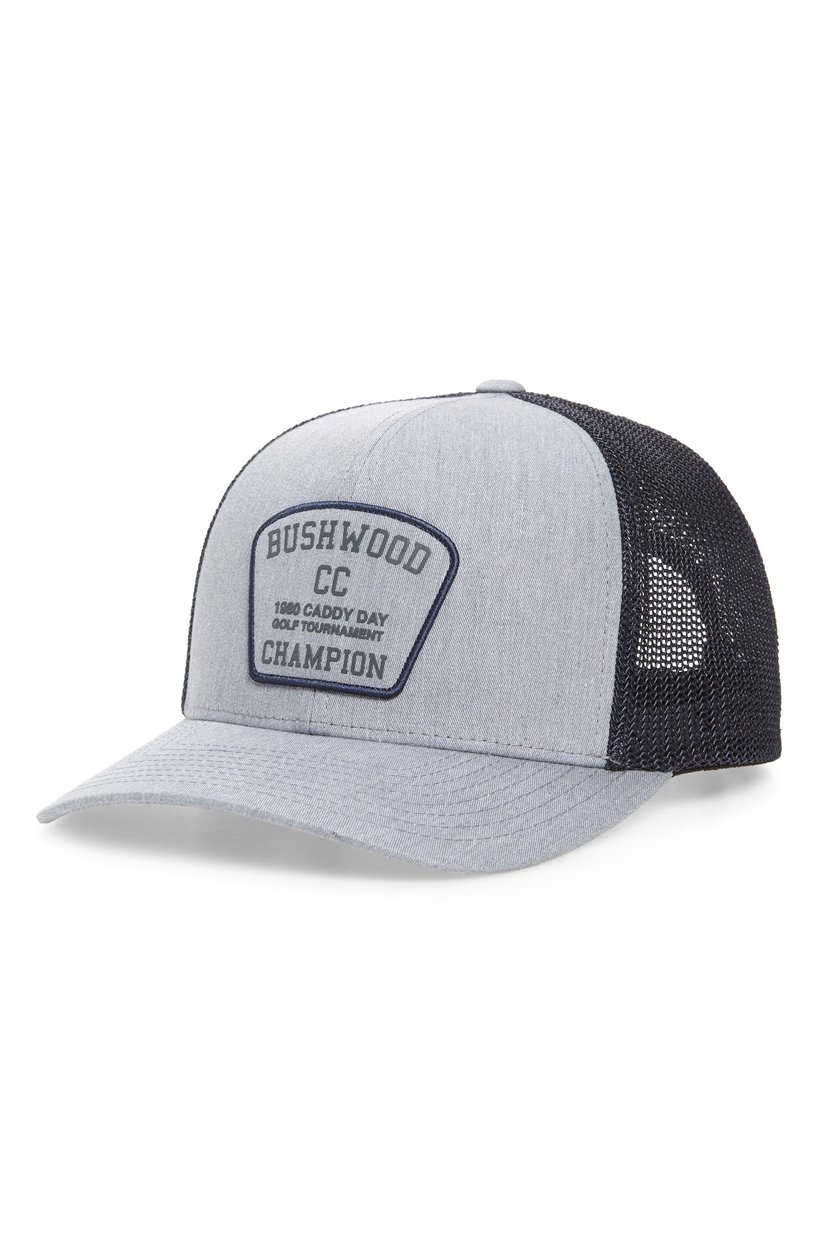 A cool vintage-style patch fronts a sweet cap that\\\'s perfect for a day on the links. Style Name: Travismathew Presidential Suite Trucker Hat. Style Number: 6051649. Available in stores.