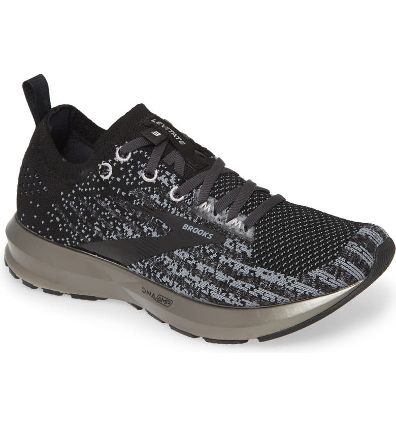 BROOKS Levitate 3 Running Shoe, Main, color, BLACK/ EBONY/ SILVER