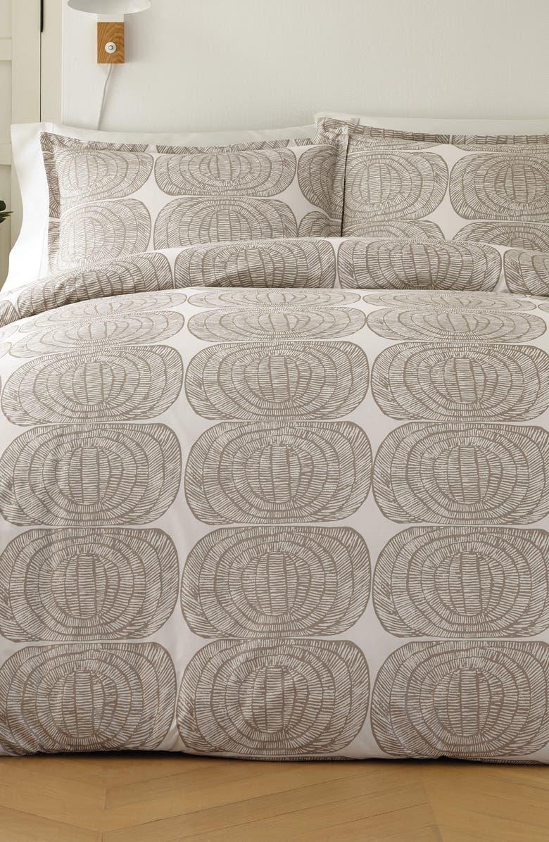MARIMEKKO Mehiläispesä Comforter & Sham Set, Main, color, TAUPE
