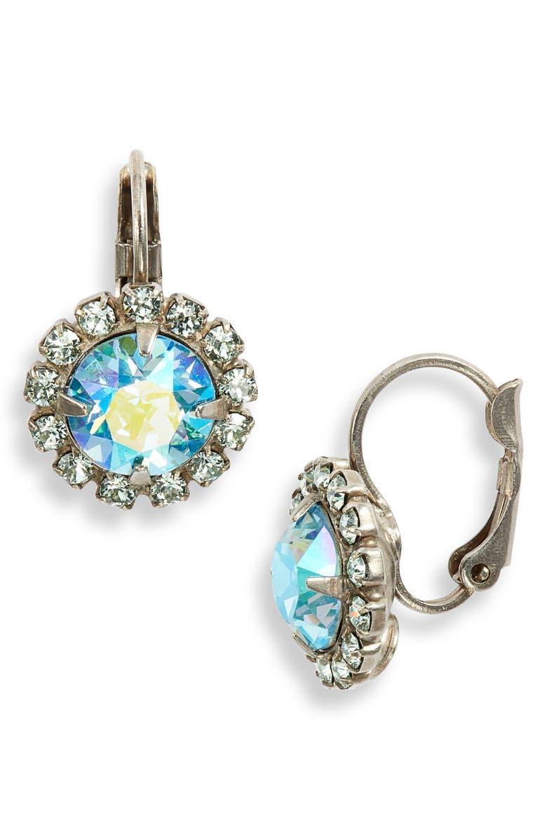 SORRELLI Pastel Prep Haute Halo Crystal Earrings, Main, color, 400