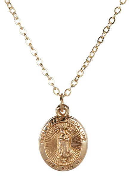 Image of Best Silver Inc. 14K Yellow Gold Guadalupe Necklace