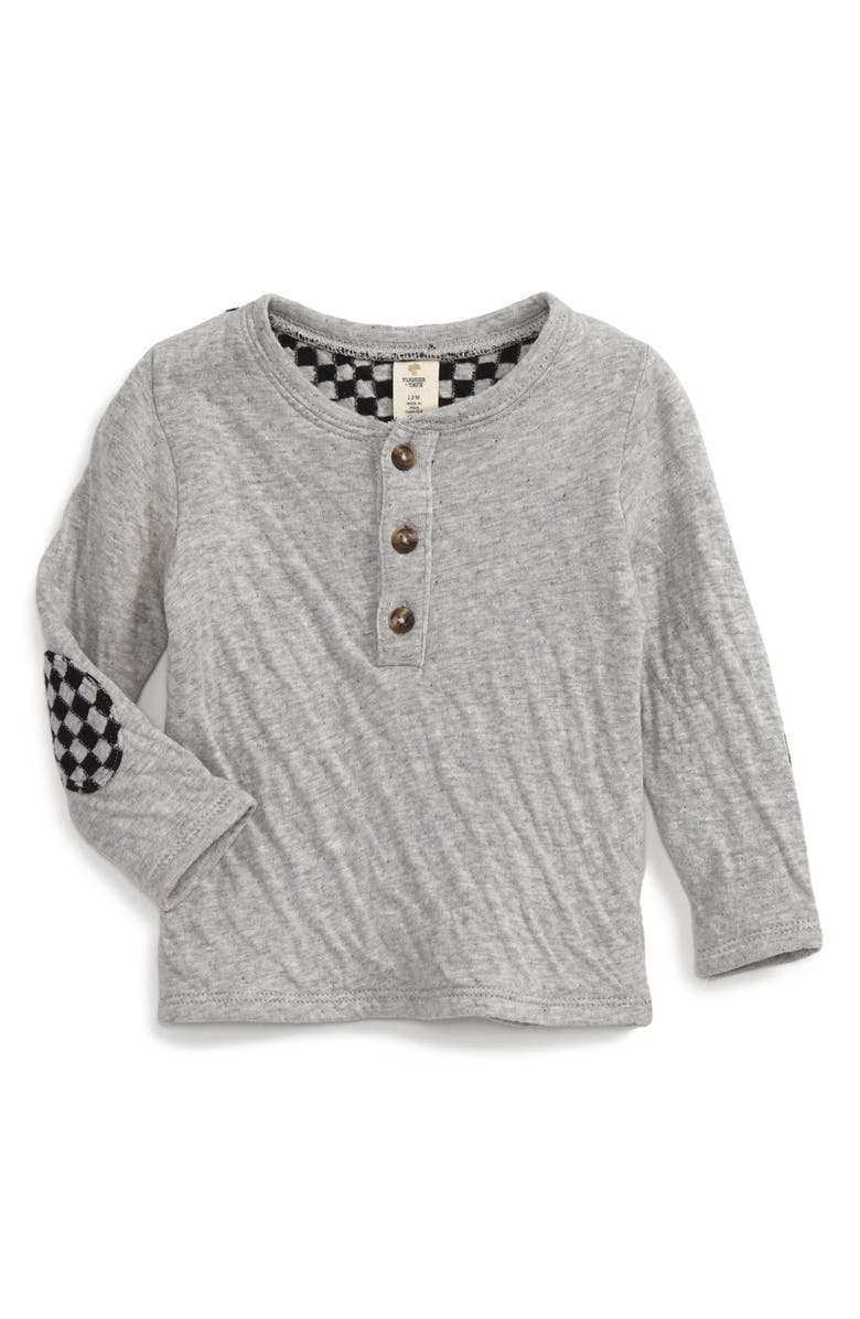 TUCKER + TATE Double Knit Henley Top, Main, color, 050