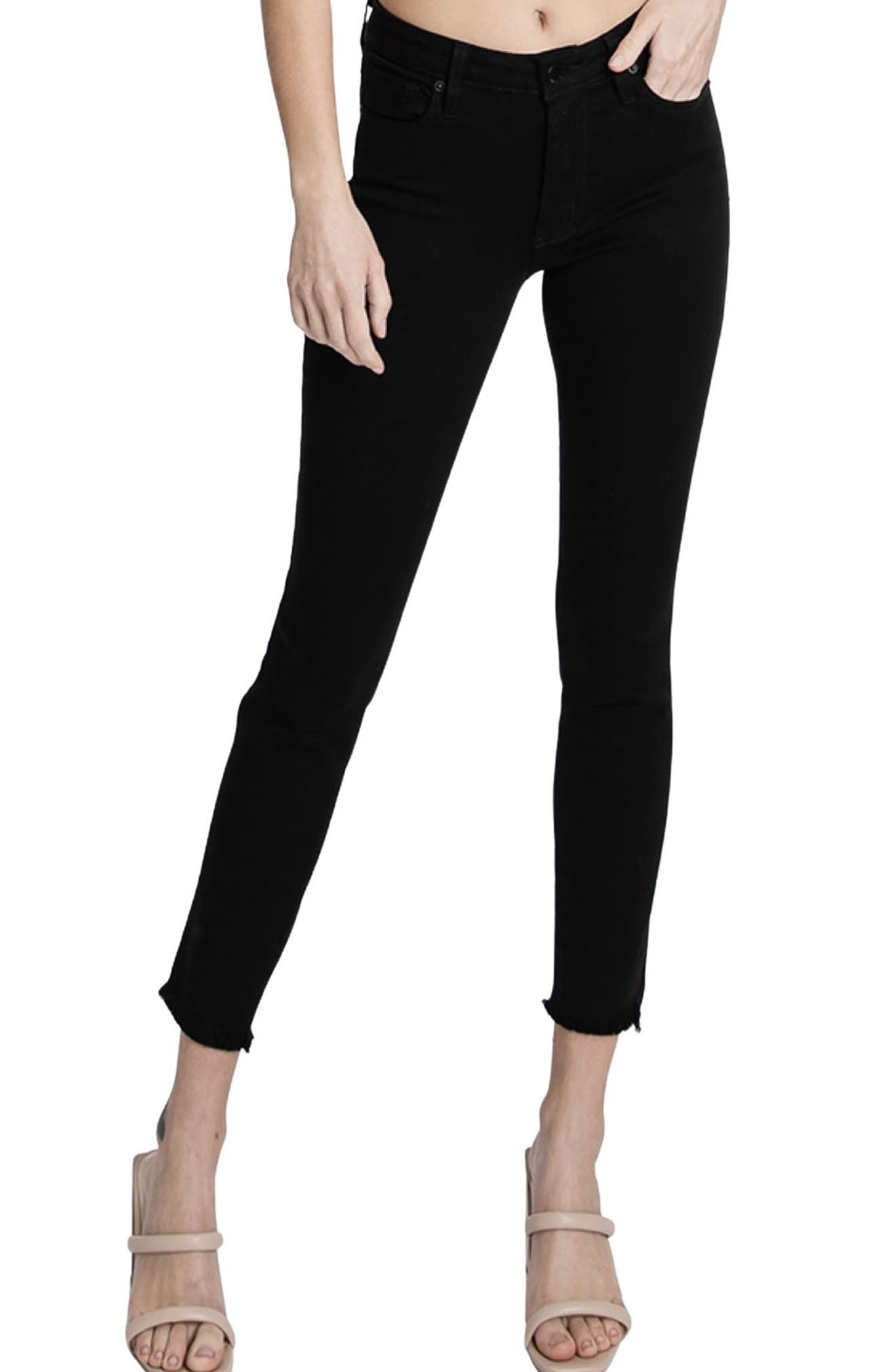 Juliet Frayed Hem Ankle Skinny Jeans