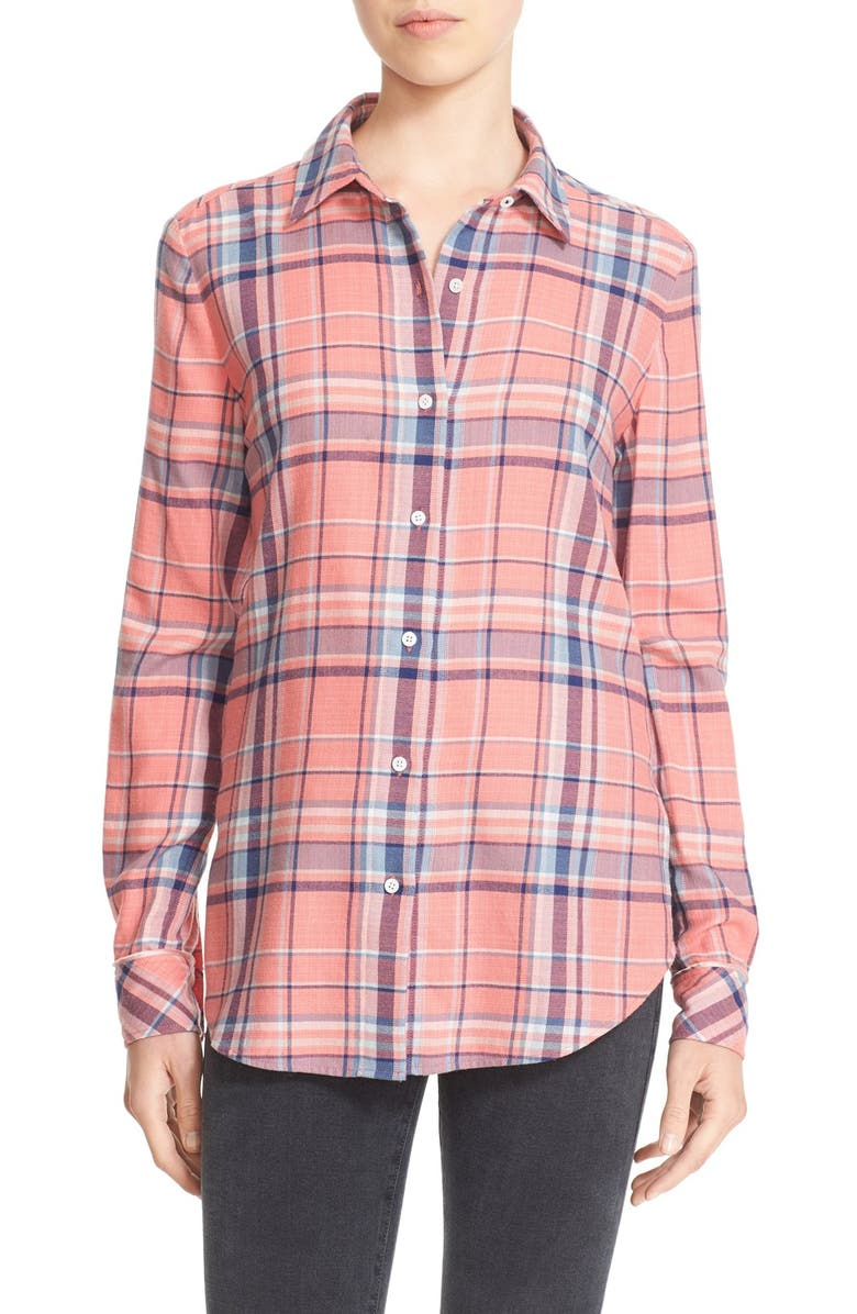 ELIZABETH AND JAMES 'Rowan' Flannel Shirt, Main, color, 600