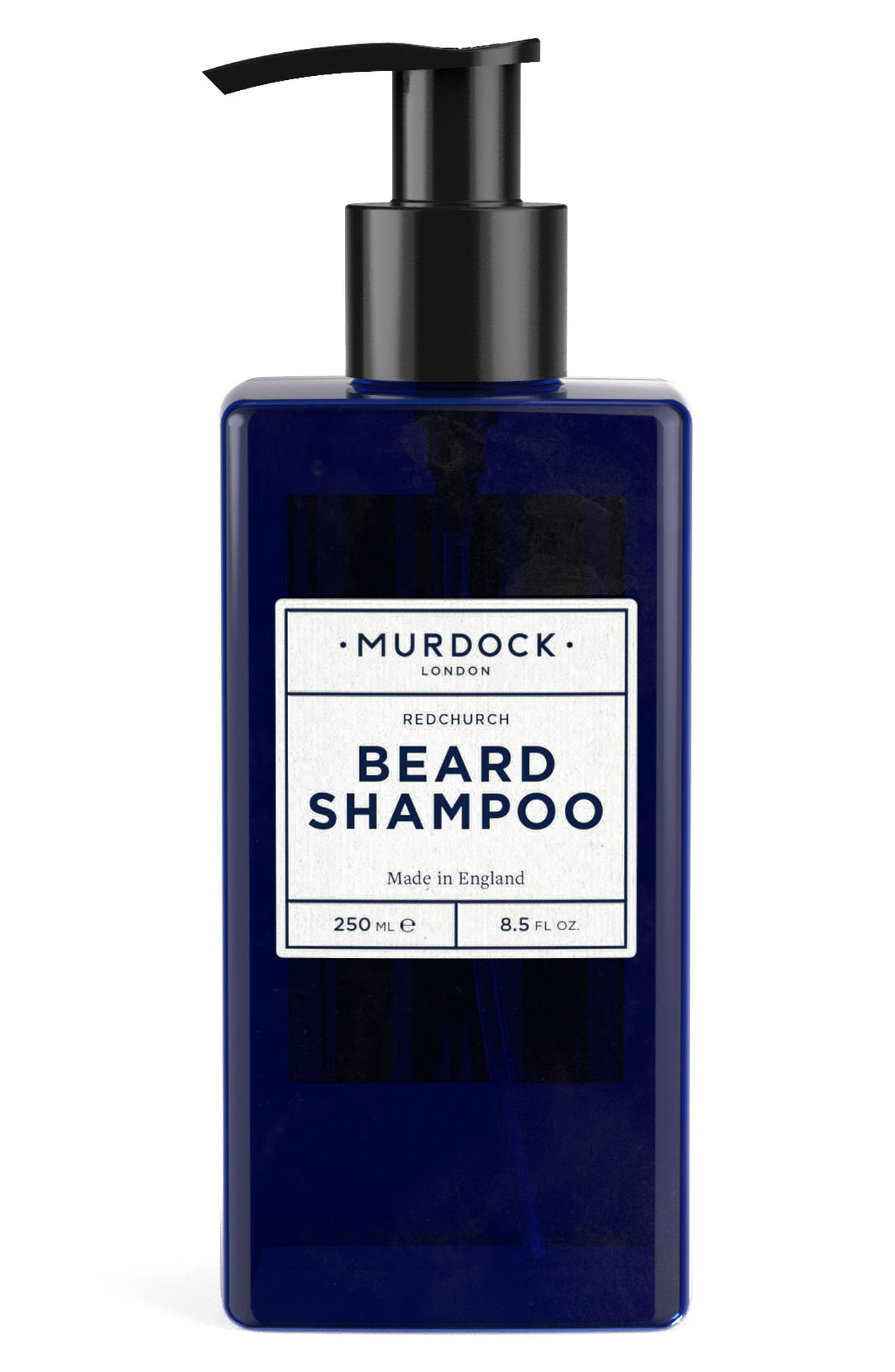 What it is: A pH-balanced shampoo. What it does: This sulfate-free formula thoroughly cleanses without stripping your hair follicles or skin. How to use: Massage a thumbnail amount into your beard and rinse through with water. Use twice per week. Style Name: Murdock London Beard Shampoo. Style Number: 5576690. Available in stores.
