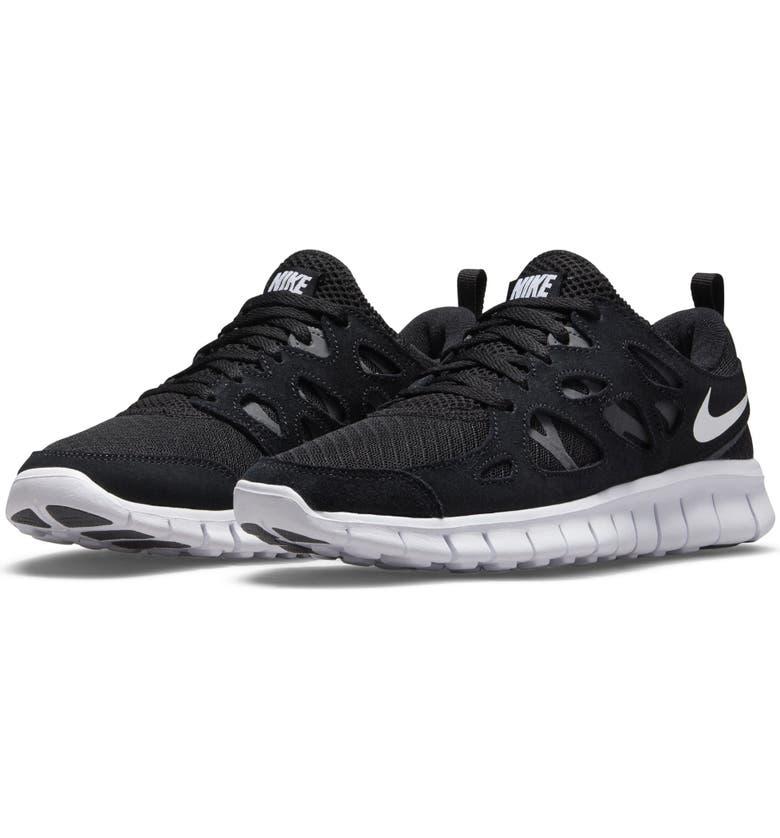 NIKE Free Run 2 Sneaker, Main, color, BLACK/ WHITE/ DARK GREY