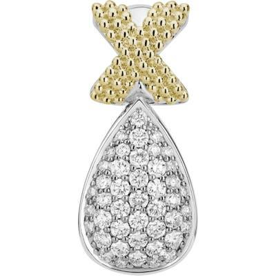 Lagos Caviar Lux Two-Tone Diamond Pendant