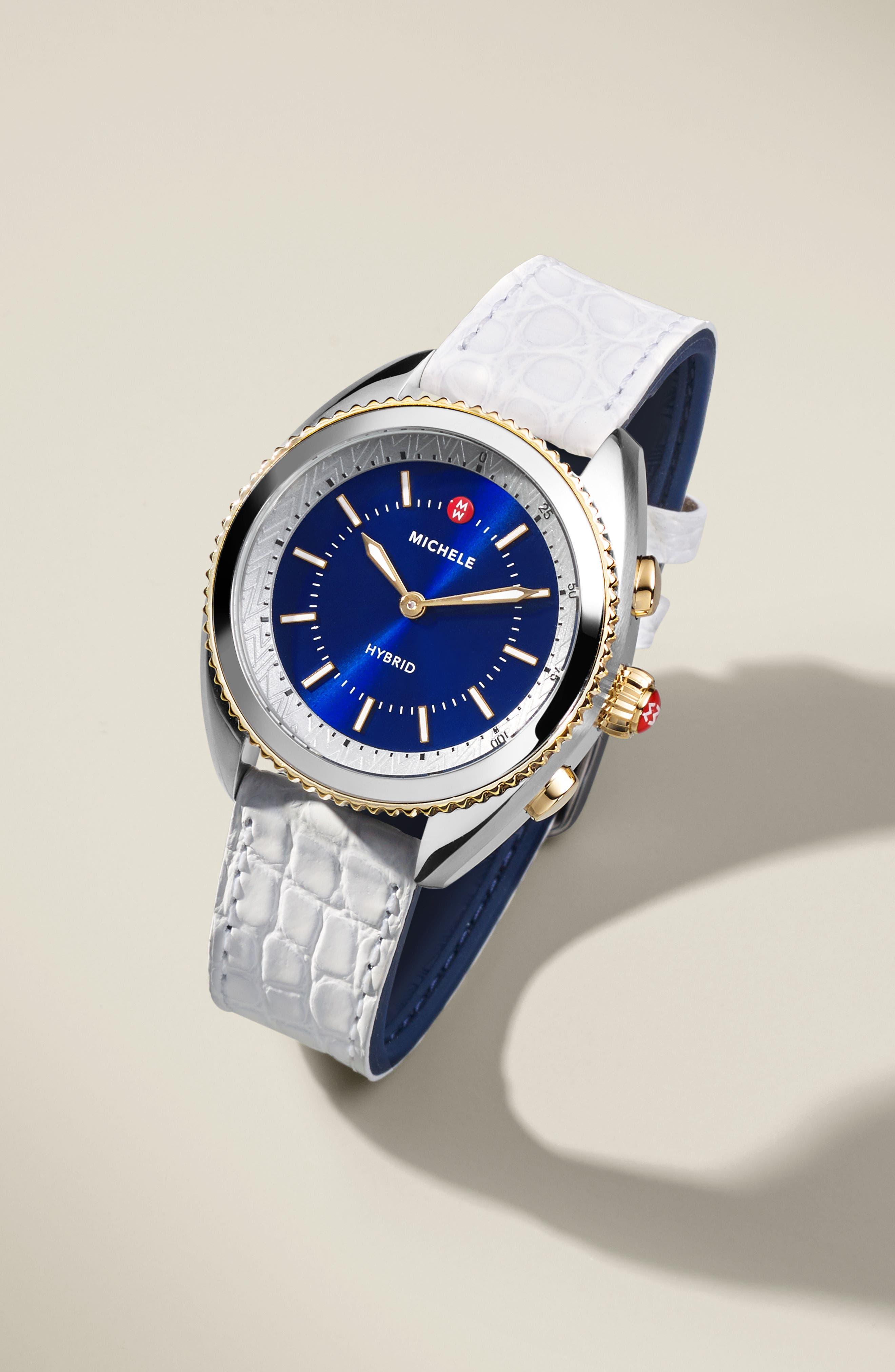,                             Hybrid Tracker Smart Watch, 38mm,                             Alternate thumbnail 3, color,                             PINK/ CASHMERE/ ROSE GOLD
