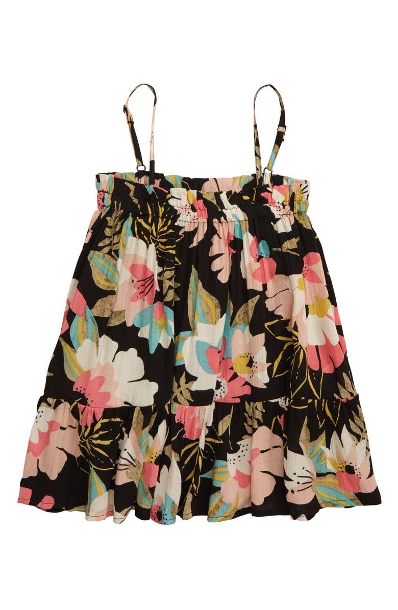 BILLABONG Love It All Floral Print Dress, Main, color, 001
