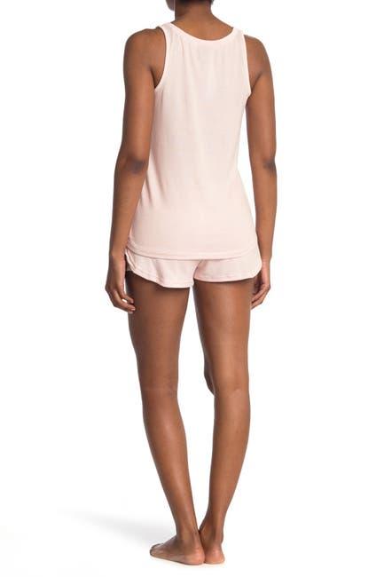 Image of Tahari Pocket Tank Top & Shorts 2-Piece Pajama Set