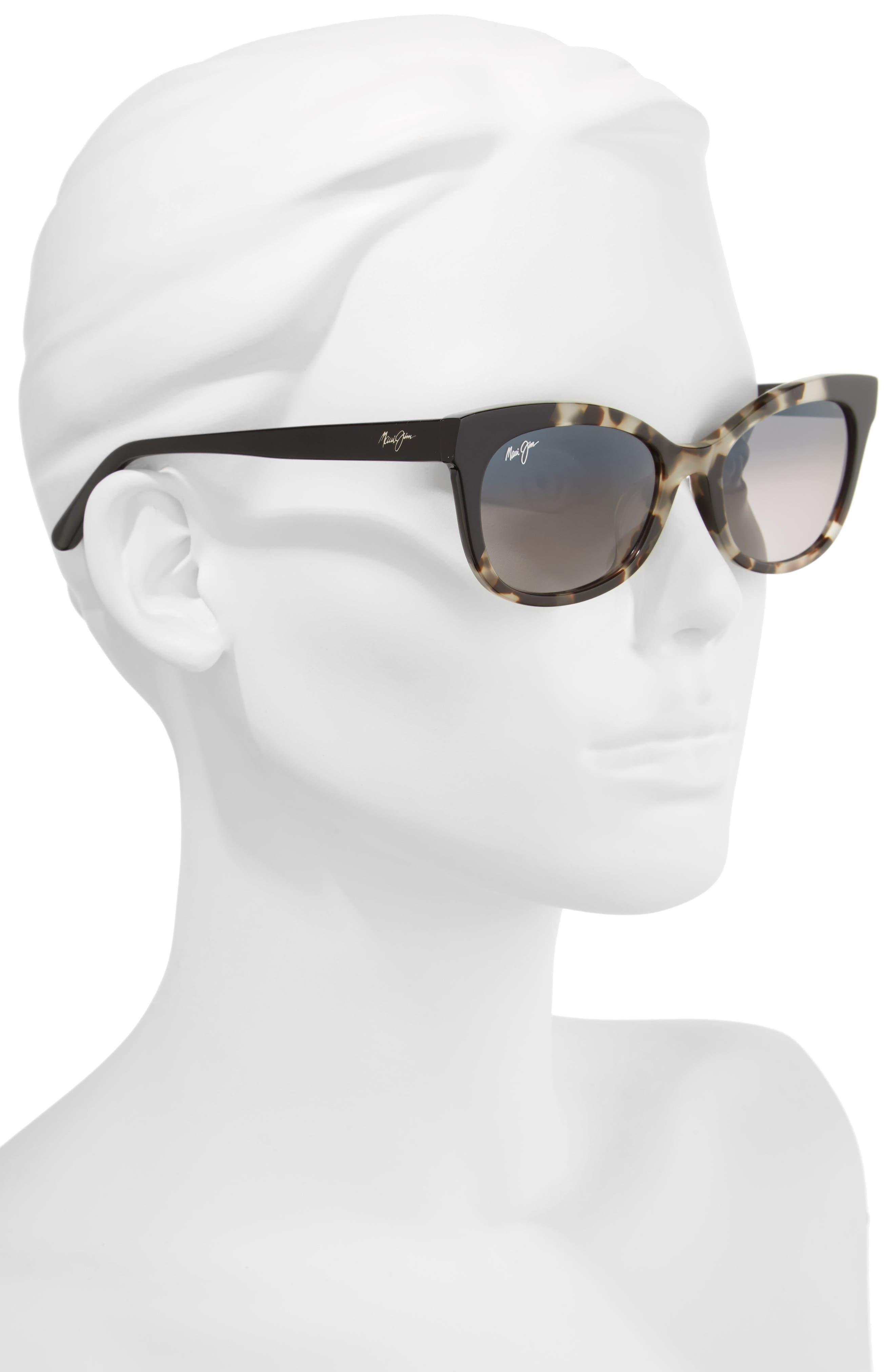 ,                             Ilima 53mm PolarizedPlus2<sup>®</sup> Cat Eye Sunglasses,                             Alternate thumbnail 2, color,                             WHITE TOKYO/ GLOSS BLACK