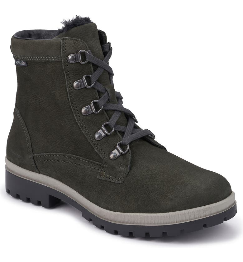 MEPHISTO Zorah Lace-Up Boot, Main, color, GRAPHITE NUBUCK
