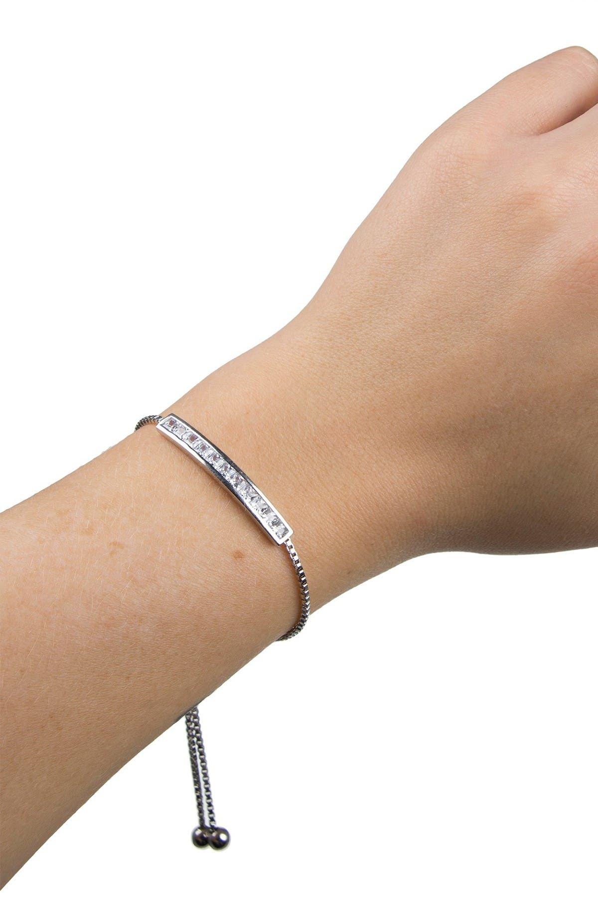 Image of CZ By Kenneth Jay Lane Princess CZ Bracelet