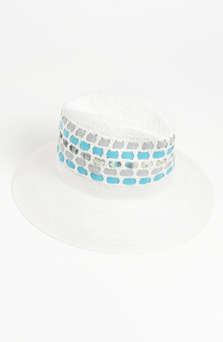 NORDSTROM 'Weaved Ribbon' Fedora, Main, color, 100