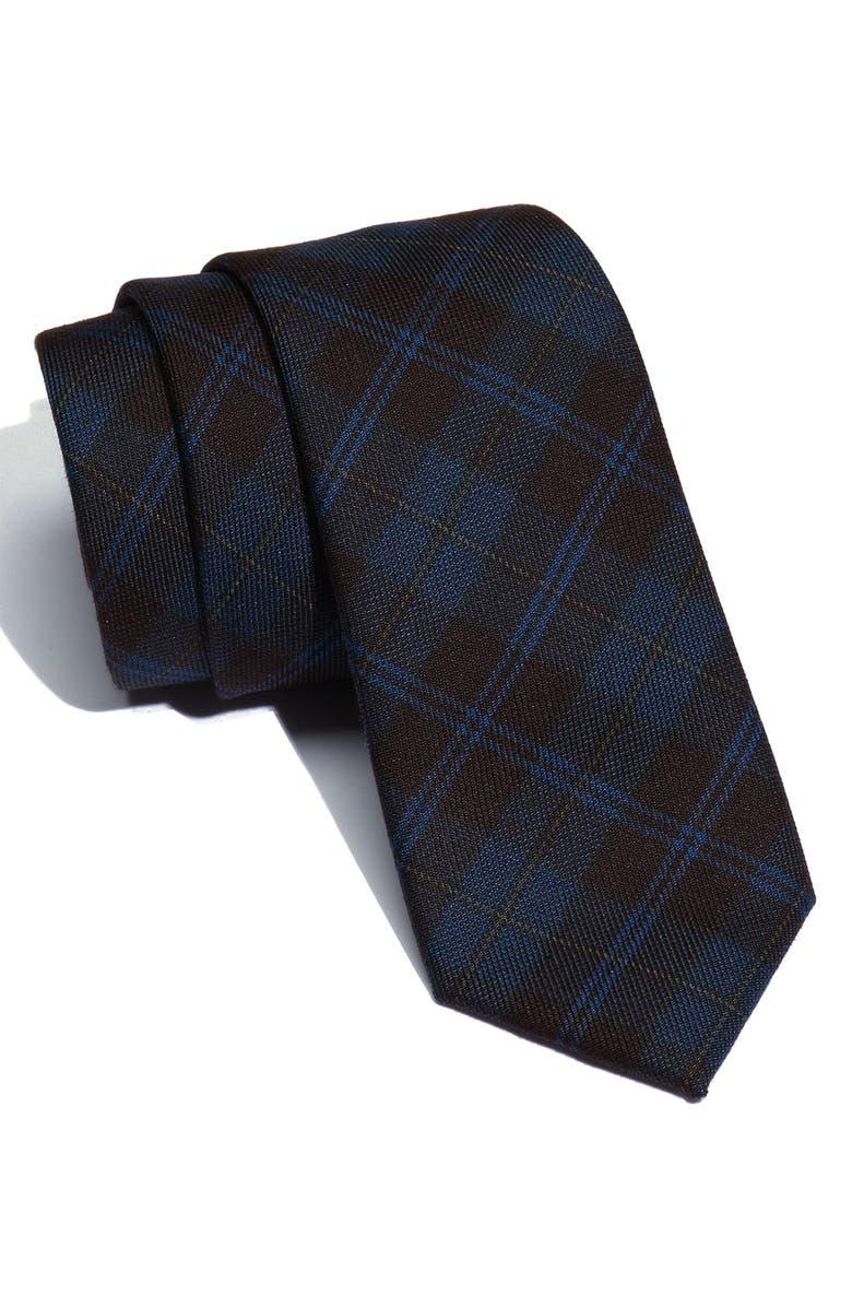 PUBLIC OPINION Plaid Tie, Main, color, 400