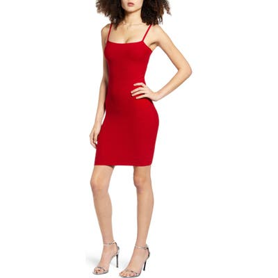 Leith Bandage Minidress, Red