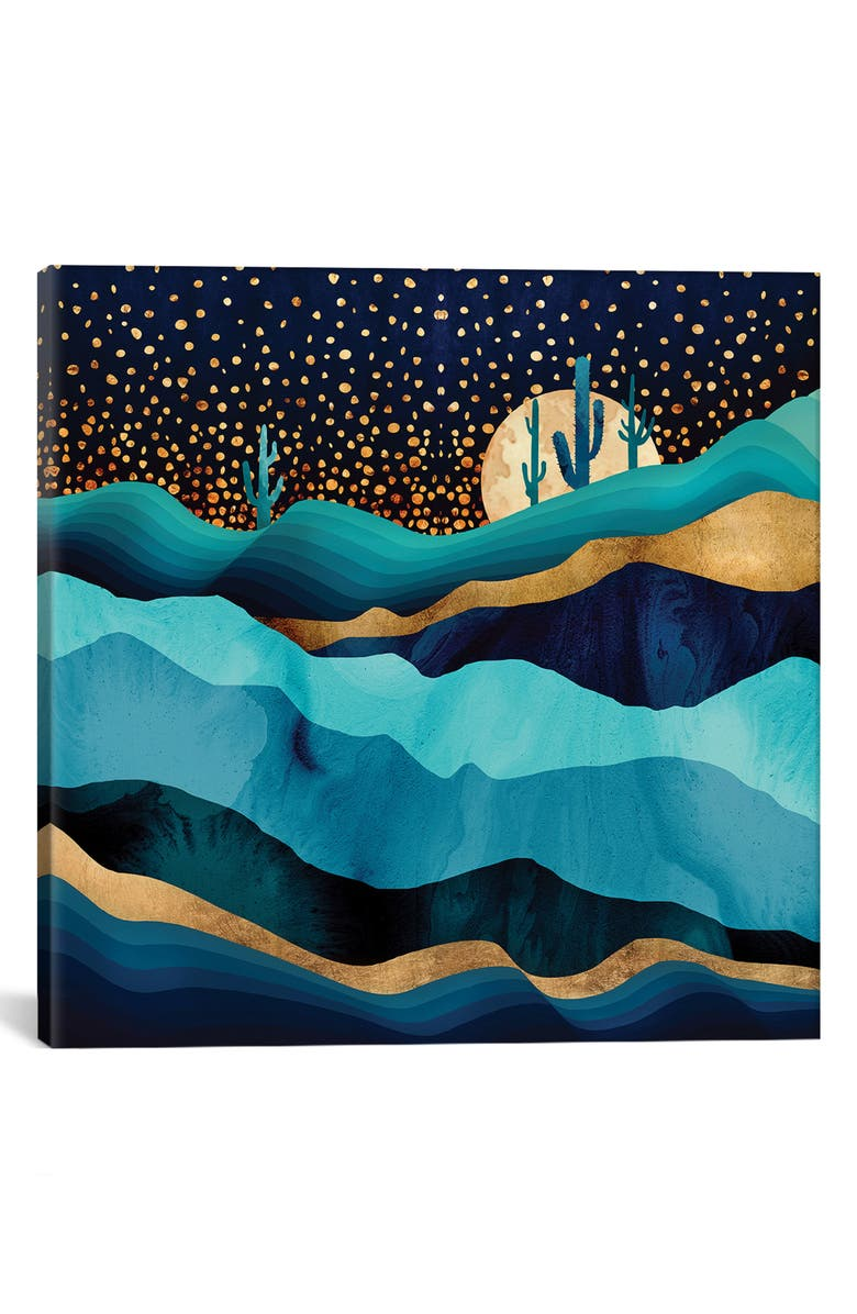 ICANVAS Indigo Desert Night by SpaceFrog Designs Giclée Print Canvas Art, Main, color, BLUE/ GREEN