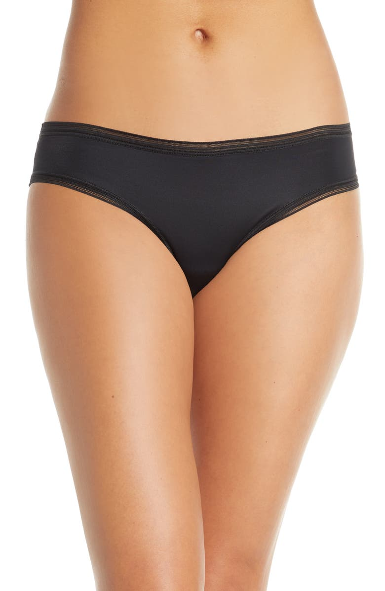 THINX Period Proof Cheeky Panties, Main, color, BLACK