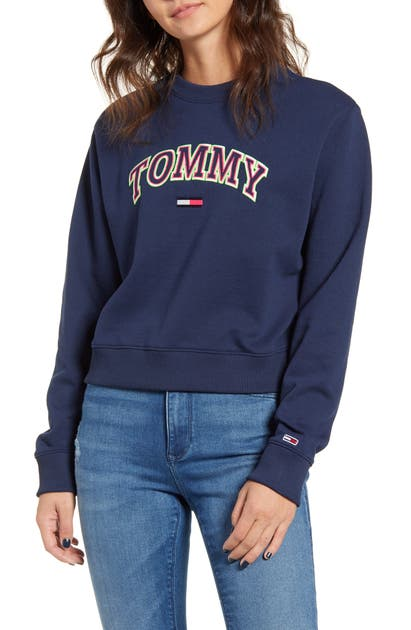 Tommy Jeans NEON COLLEGIATE COTTON BLEND SWEATSHIRT