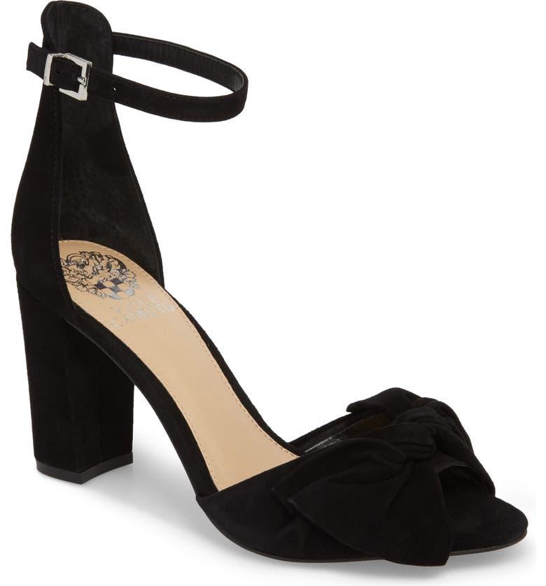 VINCE CAMUTO Carrelen Block Heel Sandal, Main, color, 001