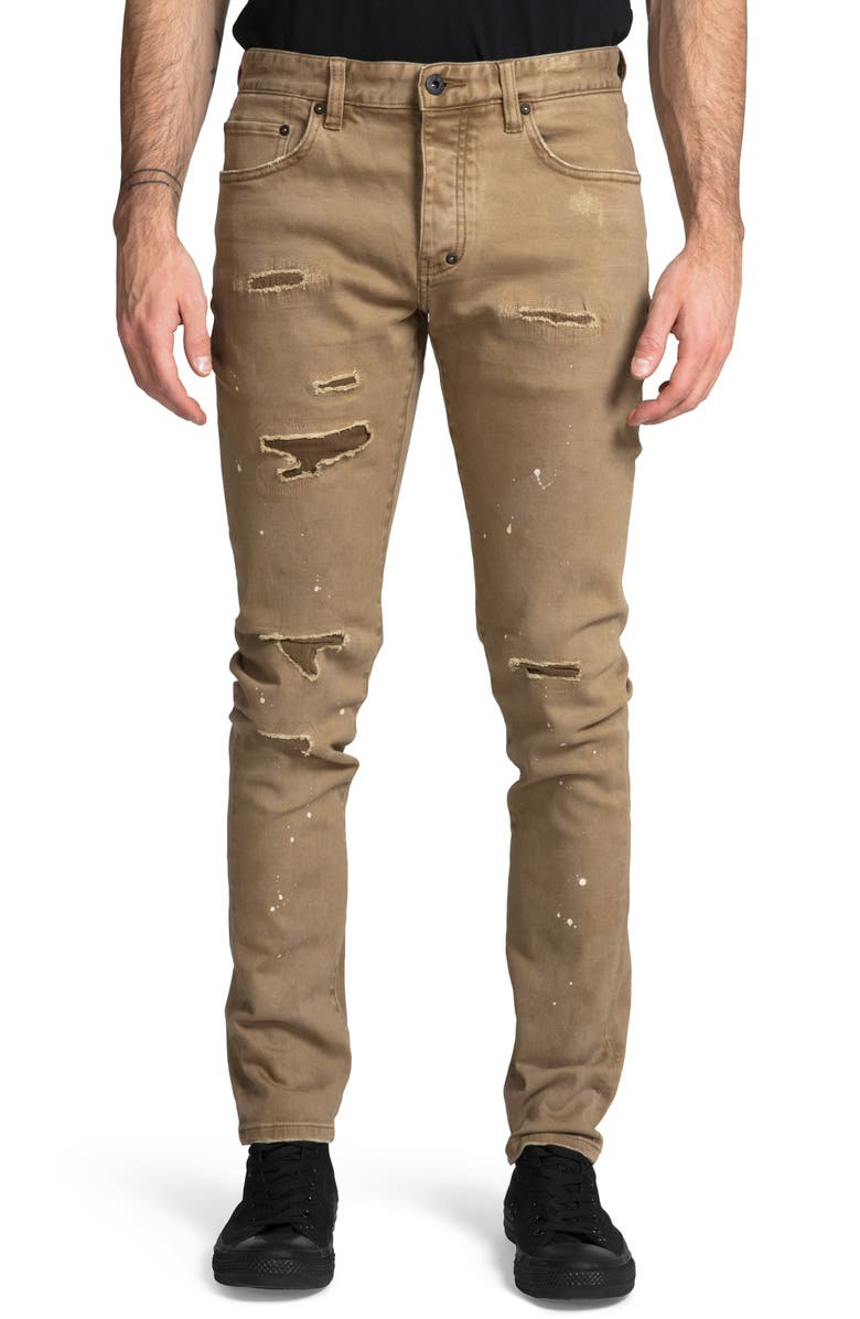PRPS Le Sabre Distressed Slim Fit Jeans, Main, color, 250