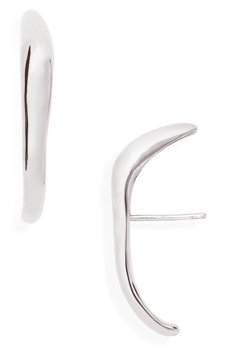 FARIS Vero Stud Earrings, Main, color, SILVER