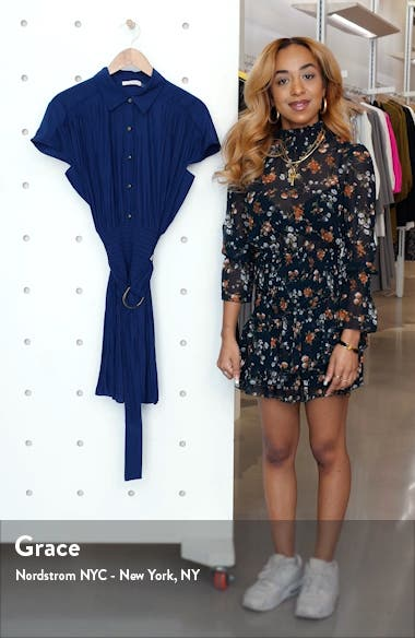 Stacy Short Sleeve Hammered Satin Shirtdress, sales video thumbnail