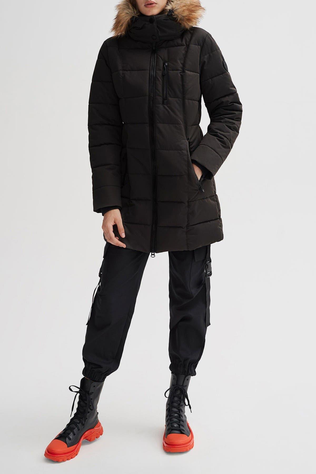 Image of NOIZE Hannah Faux Fur Trim Hooded Parka