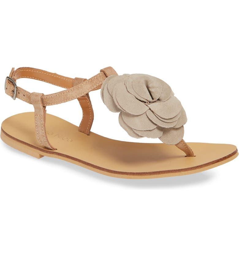 KLUB NICO Evie Floral Sandal, Main, color, CHALK SUEDE
