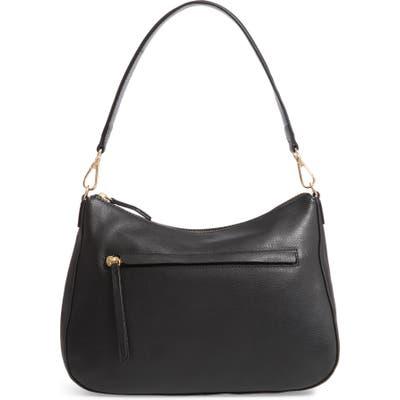 Nordstrom Finn Convertible Leather Hobo - Black