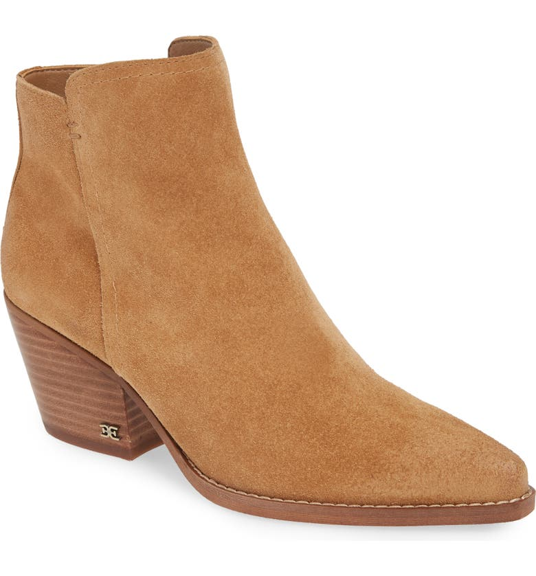 Welles Bootie, Main, color, GOLDEN CARAMEL SUEDE